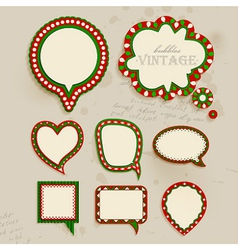 Christmas vintage bubbles vector image