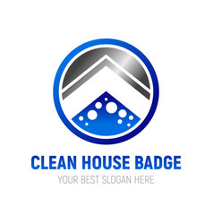 Clean house badge symbol design vector