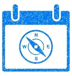 Compass Calendar Day Grainy Texture Icon vector