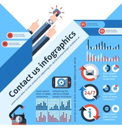 Contact us infographics vector image