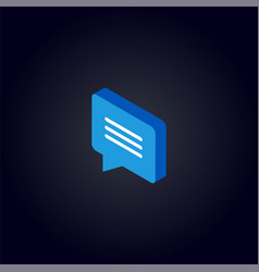 Counter notification chat icon vector
