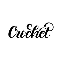 crochet hand lettering vector image