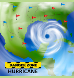 dangerous weather forecast background vector image