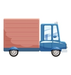 Delivery car icon cartoon style vector