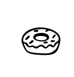 donut icon isolated on white background vector image