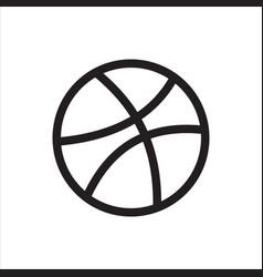 Dribbble social media logo and icon vector