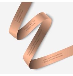 Elegant ribbon banner vector