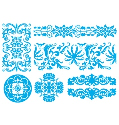 flower fancy pattern vector image