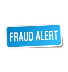 Fraud alert square sticker on white vector