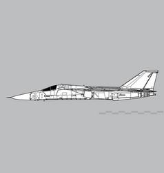 general dynamics f-111 aardvark vector image