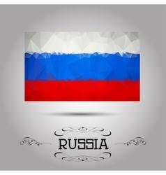 geometric polygonal Russia flag vector image