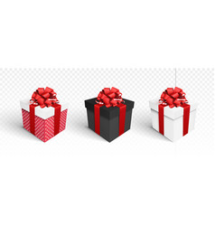Gift boxes isolated on white vector