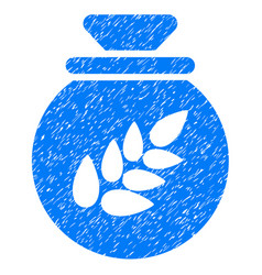 Grain harvest sack icon grunge watermark vector