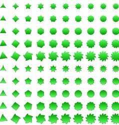 Green deformed polygon shape collection vector