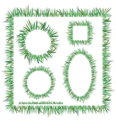 Green Grass Frames vector image