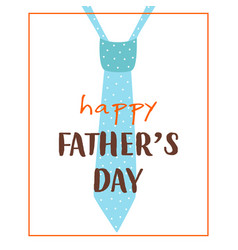 Greeting card for fathers day with tie vector