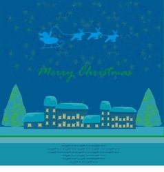 Happy New year card with Santa vector