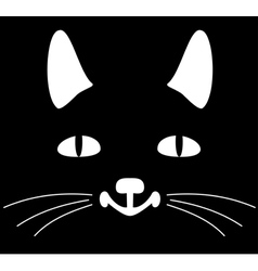 Head of a cat vector image
