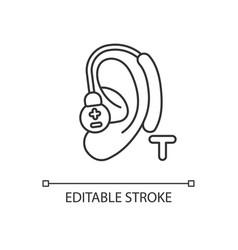Hearing loop linear icon vector