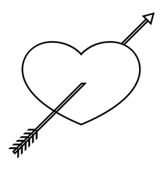 Heart icon outline style vector