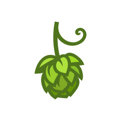 hop cone icon design element for beer prodaction vector image