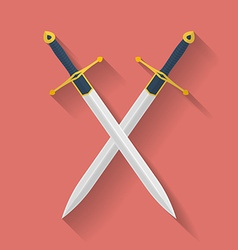 Icon ancient swords flat style vector