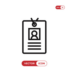 identity card icon identificationid symbol vector image