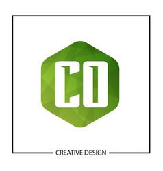 Initial letter co logo template design vector