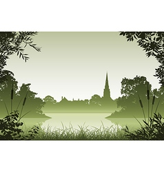 Landscape with Church vector image vector image