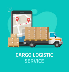 Logistic cargo courier or freight delivery service vector