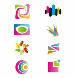 logo colorfull set symbol vector image