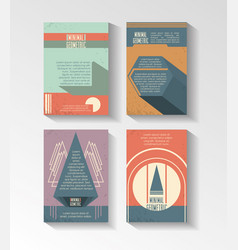 minimal geometric set templates labels vector image