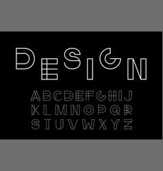 minimalistic font - modern futuristic vector image