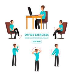 Office exercises info set vector
