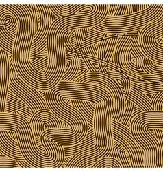 Orange Wave Line Pattern vector