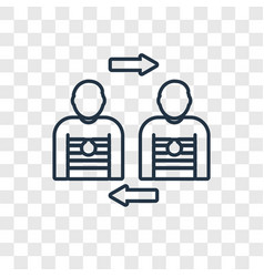 Player substitution concept linear icon isolated vector
