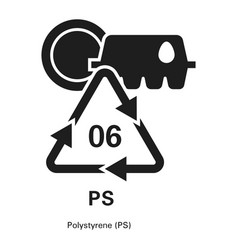 polystyrene icon simple style vector image