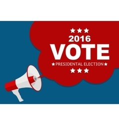 Presidential Election Vote 2016 in USA Background vector image