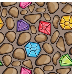 seamless pattern of diamonds and rock vector image