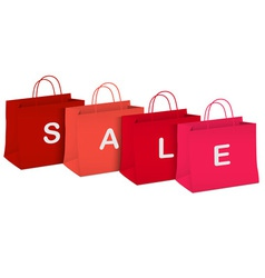 Seasonal sale shopping bags vector image