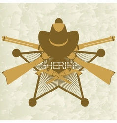 Sheriffs badge-3 vector image