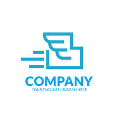 simple and memorable fast delivery package logo vector image