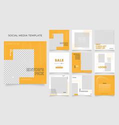 Social media template banner blog fashion sale vector