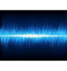 Sound waves oscillating on black background EPS 8 vector image