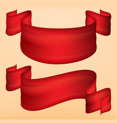 strip ribbon of red fabric looks elegant and vector image