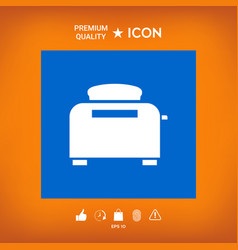 Toaster oven icon vector