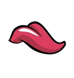 Tongue icon Part of boby design graphic vector