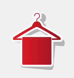 towel on hanger sign new year reddish vector image