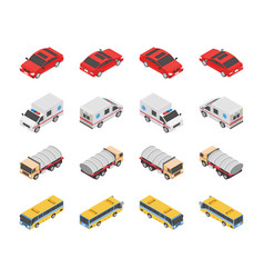 transport types icons vector image