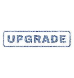 Upgrade textile stamp vector